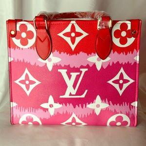Handbags - Red Multi Color Medium size Handbag